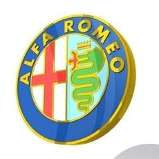 Alfa Romeo Logo 3D Model