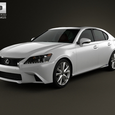 Lexus GS F Sport hybrid (L10) with HQ interior 2012 3D Model