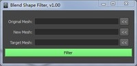 Free BlendShapeFilter for Maya 1.0.0 (maya script)
