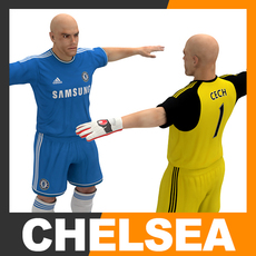 Football Player and Goalkeeper - Chelsea FC 3D Model