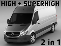 Mercedes Sprinter 2014 High and Superhigh 3D Model