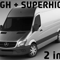 Mercedes Sprinter 2014 High and Superhigh 3D Model