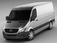 Mercedes Sprinter MY2014 standard 3D Model