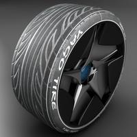 Yago Sports Racing Tire 3D Model