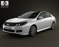 Renault Latitude with HQ interior 2013 3D Model