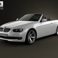 BMW 3 Series convertible with HQ interior 2011 3D Model