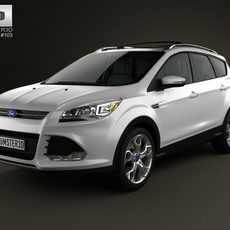 Ford Escape with HQ interior 2013 3D Model