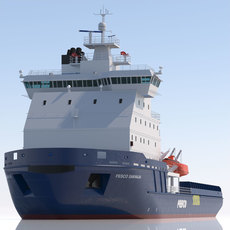 Icebreaker Fesco Sakhalin 3D Model