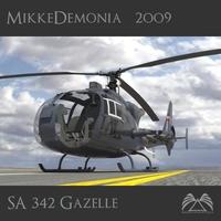 SA 342 Gazelle Gamma 3D Model