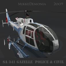 SA 342 Gazelle Police & Civil 3D Model