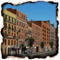 European City Block 03 3D Model