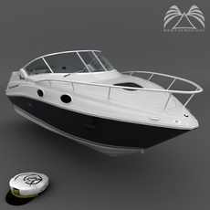 Sea Ray 240 Sundancer 3D Model