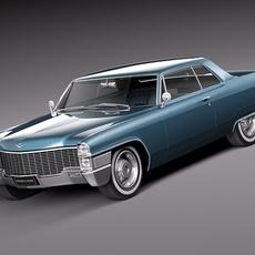 Cadillac DeVille 1965 coupe 3D Model