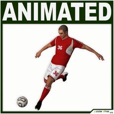 White Soccer Player (Hi-Poly) 3D Model