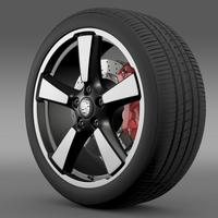 Porsche 911 50YearEditions wheel 3D Model