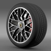 Porsche 911 Turbo S 2013 wheel 3D Model