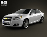 Chevrolet Malibu with HQ interior 2013 3D Model