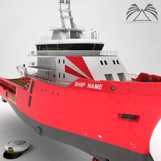 Anchor Handling Tug Supply Ship 3D Model