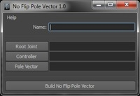 Free No Flip Pole Vector Tool for Maya 1.0.0