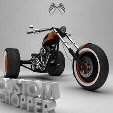 Custom Chopper 01 3D Model