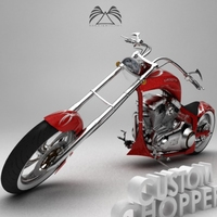 Custom Chopper 02 3D Model