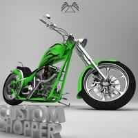Custom Chopper 03 3D Model