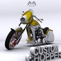 Custom Chopper 04 3D Model