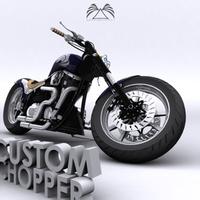 Custom Chopper 05 3D Model
