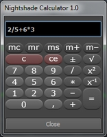 Free Nightshade Calculator for Maya 1.0.0 (maya script)