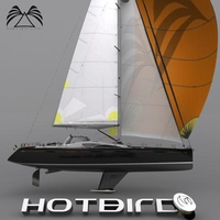 HotBird 57 Sailboat 3D Model