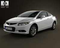 Honda Civic coupe 2013 3D Model