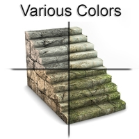 Rock stairs module 3D Model