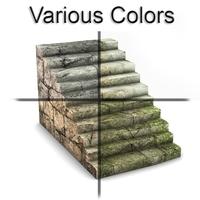 Rock stairs module 3D Model