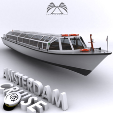 Amsterdam Cruise Boat 02 3D Model