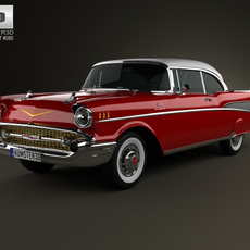 Chevrolet Bel Air Sport Coupe 1957 3D Model