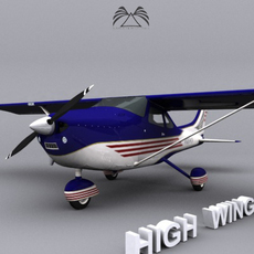 High Wing Airplane 3D Model