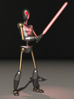 Robot Sith RIGGED 3D Model