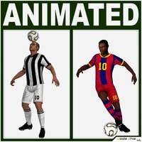 Soccer Players Package (Hi-Poly) 3D Model