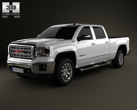 GMC Sierra Double Cab 2013 3D Model