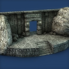 Ancient entrance doorway 3D Model