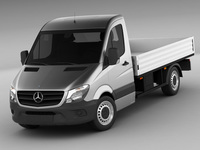 Mercedes Sprinter 2013 pick-up 3D Model