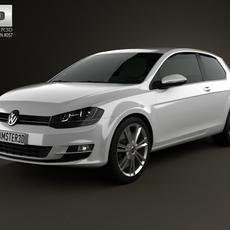 Volkswagen Golf Mk7 3-door 2013 3D Model