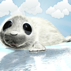 Cartoon Baby Seal Rigged 3D Model