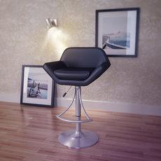 Valencia Adjustable Barstool in Oyster Grey 3D Model