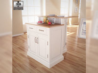 Woodbridge Two Tier Kitchen Island in White 3D Model