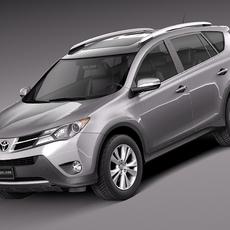 Toyota RAV4 2013 Lowpoly 3D Model