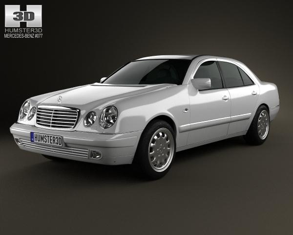 Mercedes benz e class sedan w210 1996 3d model for Mercedes benz sedan models