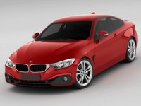 BMW 4 F32 coupe MY2014 3D Model