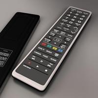 TV remote control 3D Model