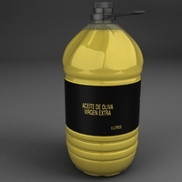 Oil bottle 3D Model